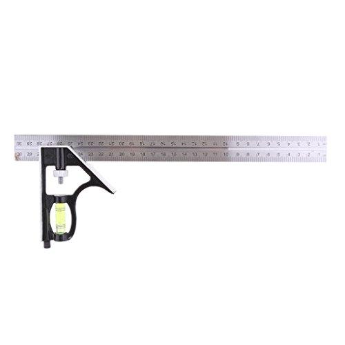 MagiDeal Winkelmesser Winkel Regel Messgerät Lineal 30cm Edelstahl