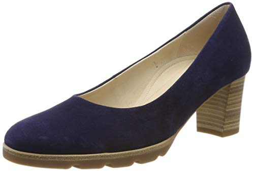 Gabor Shoes Damen Comfort Fashion Pumps, Blau (Bluette 36), 39 EU - Pumps Leder