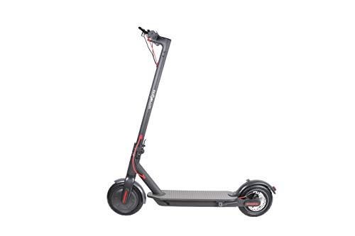 Wind Goo Patinete electrico - Scooter Negro - hasta 35Km Alcance - 25Km/h - Plegable - Luces Delantera y de frenada - Bateria LG - hasta 120kg - Doble Freno - Motor 250W - Ruedas 8.5 Pulgadas