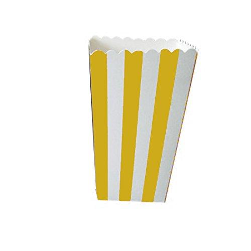 e Popcorn-Tüten für die Kinderparty - Naschtüten für Geburtstag, Hochzeit, als Dekoration - Farbe: rosa, gelb, Einheitsgröße (Rosa Und Gelbe Party Supplies)