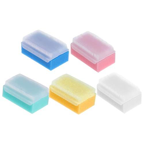 Lurrose 5 stücke Schwamm Badebürste antibakterielle Dusche Körperwäscher Massagebürste für Erwachsene Kinder -