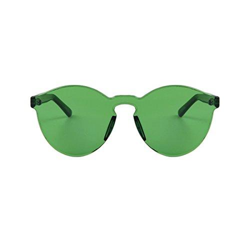 NoyoKere Mode Frauen Mädchen Sonnenbrille Cat Eye Shades Sonnenbrille Integrated Eyewear Candy Farbe UV400 Grün