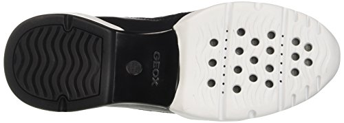 Geox D Sfinge A, Baskets Basses Femme Noir (BLACKC9997)