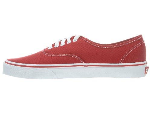 Vans Authentic, Unisex - Erwachsene Sportschuhe - Skateboarding Rot