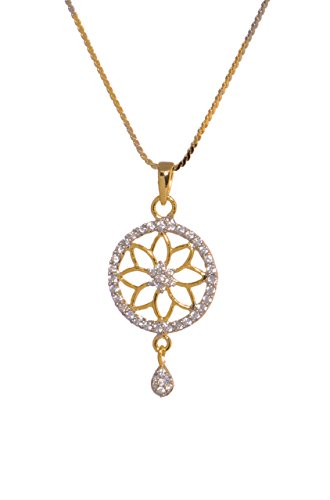 Sparkle Street Alloy Floral Chakra Pendant Necklace For Women  available at amazon for Rs.149