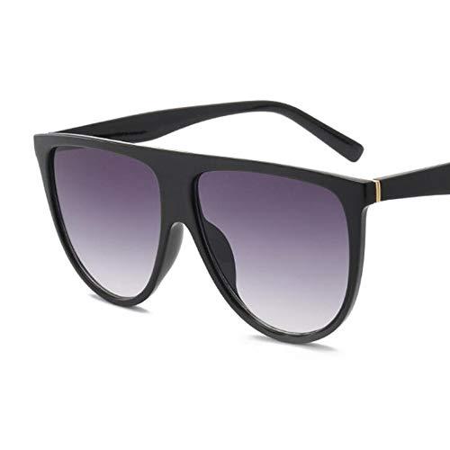 HRCVNMKO Dünne Flat Top Sonnenbrille Frauen Luxury Brand Designer Retro Vintage Sonnenbrille Weibliche Kim SonnenbrilleKlarglas, Style1