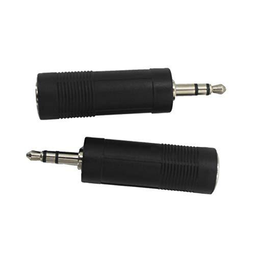 FLAMEER 2 Stück Gitarrenverstärker Adapter Stereo-Audio-Klinken-Adapter-Konverter für Gitarrenteile