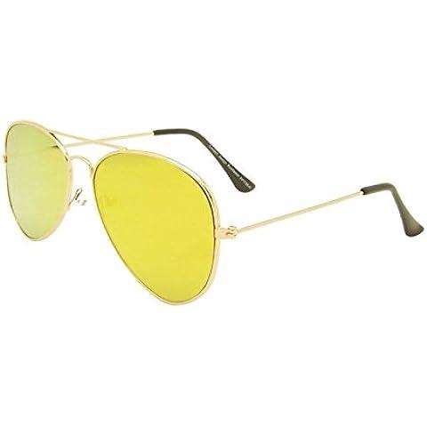 Piatto Unisex Giallo Lens Occhiali da sole