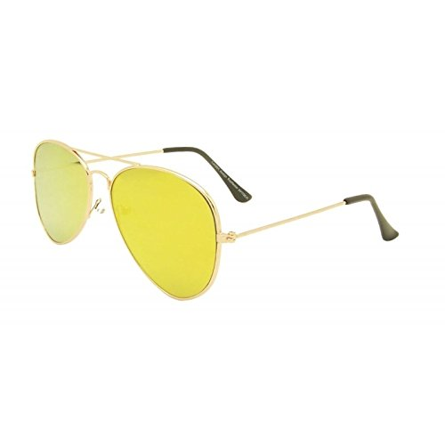 amarillo-unisex-soporte-de-lente-aviador-gafas-de-sol-estilo-anos-ochenta-fashion-metal-farme-gafas-