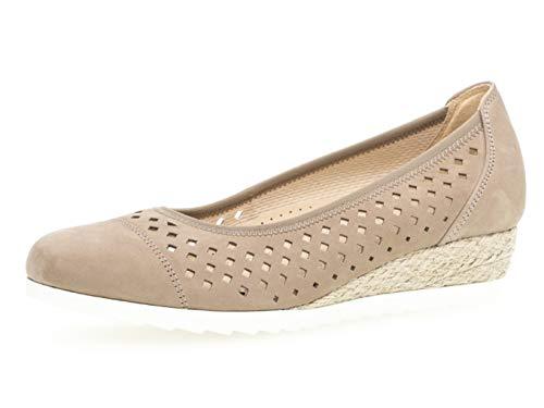 Wildleder Ballerinas Schuhe (Gabor Damen Ballerinas 22.642.31, Frauen Flats,Sommerschuh,klassisch elegant,Silk (Jute),40 EU / 6.5 UK)