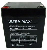 ULTRAMAX NP5-12, 12V 5AH (as 4Ah & 4.5Ah) MICROCAT BAIT BOAT BATTERY from ULTRA MAX