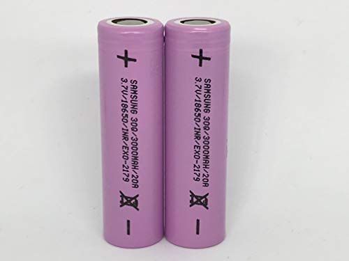Samsung 30Q 15A 3000mAh 18650 Caja de Almacenamiento de la Batería incluida - Versión Conforme a la Legislación de la EU (2 Pilas)