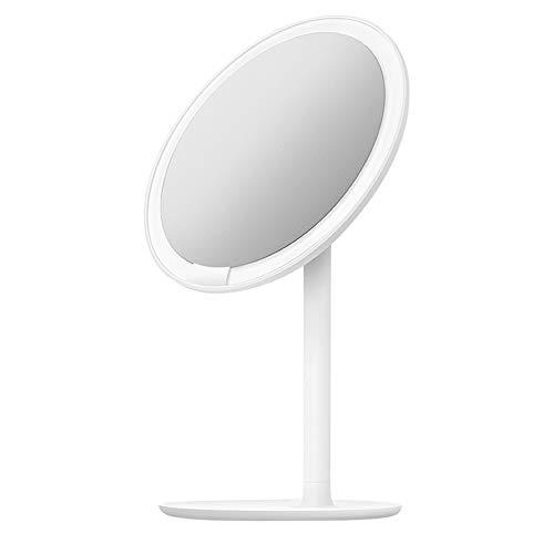 NYDZDM Beleuchtete Make-up-Spiegel-LED runden Kosmetikspiegel stehend, USB Powered 60 Grad Swivel Rotation Vanity Mirror (Stehend Make-up-spiegel)