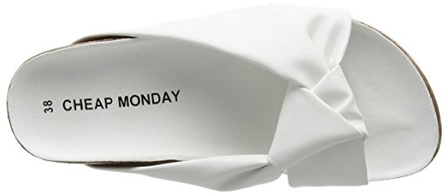 Cheap Monday Damen Blasé Knot Pantoffeln Weiß