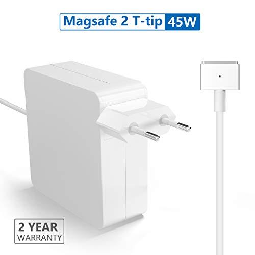 Rytaki Ersatz für MacBook Air Charger 45W Magsafe 2 Magnetische T-Spitze Power Adapter Ladegerät für MacBook Air 11-Zoll und 13-Zoll - 45w Ersatz Ac-adapter