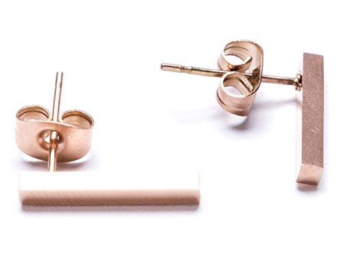 87c8d6cad33f Happiness Boutique Damas Pendientes Líneas Modernas en Oro Rosa