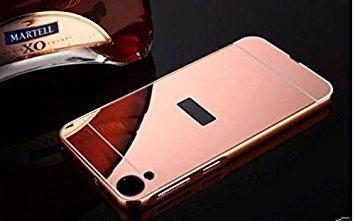 Mobi Case Aluminum Metal Bumper with PC Mirror Back Cover Case For Htc Desire 828 /828 Dual Sim - ROSE GOLD
