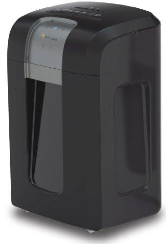Bonsaii 3S16 Aktenvernichter, bis zu 12 Blatt Papier, Partikelschnitt (Sicherheitsstufe P-4), mit CD - Shredder, 1 Stunde Dauerbetrieb (entspricht ca. 4000 DIN A4 Seiten) - geeignet für Datenschutz nach neuer Verordnung (DSGVO 2018), schwarz/silber