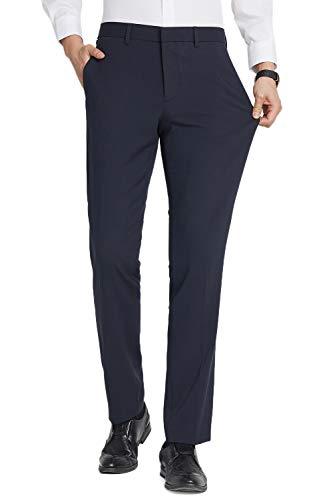 Herren Anzughose Slim Fit, Stretch Business,Marine Blau,30W/32L 30w-marine