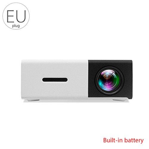 Ben-gi YG300 Mini-Projektor Heimkino-Projektor mit LED-Batterie mobilen Projektor 1080P Kompatibel mit PC Phones