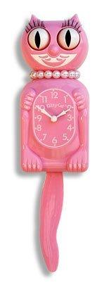 The Original New Edition Kitty Cat Klock (Clock) Miss Kitty Cat Limited Edition - Pink by Kit-Cat (Kit Cat Clock-pink)