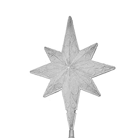 Sienna Lighted Frosted White Bethlehem Star Christmas Tree Topper with