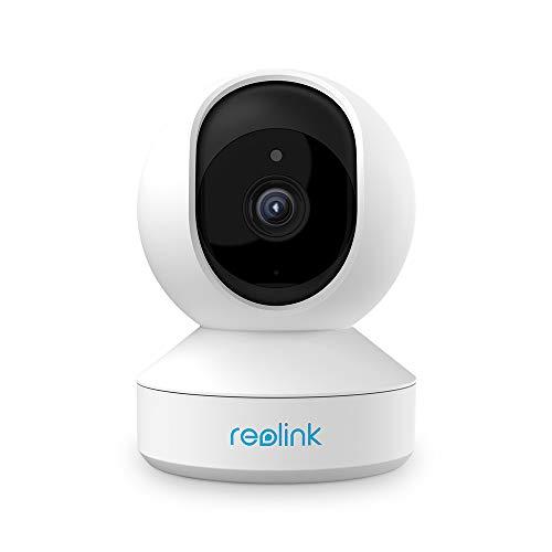 Reolink 4MP Cámara de Vigilancia WiFi Inteligente Giratorio Inclinación, 2.4GHz/5GHz WiFi, Audio Bidireccional, Detección de Movimiento IP Cámara para Hogar Seguridad E1 Pro