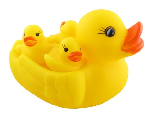 My Angel Rubber Duckies Bath Toys, Multi Color (Set of 4)
