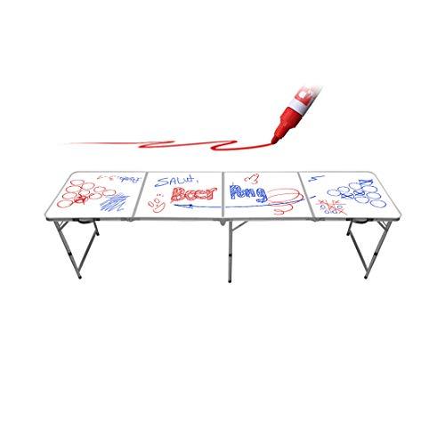 Original Cup Beer Pong Tisch Offizielle Premium Qualität Hochwertiger Whiteboard - Offizielle Wettkampfgröße - Kratzfest und Spritzwassergeschützt - Leicht zu transportieren - Trinkspiel - Partyspiel