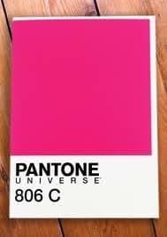 Pantone Universe Rose fluo 806C Carte de vœux vierge
