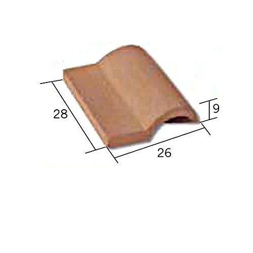Aedes 2104. Teja Romana de ceramica para hacer tejados en construcciones de miniatura. Color Rojo. Bolsa de 25 unidades