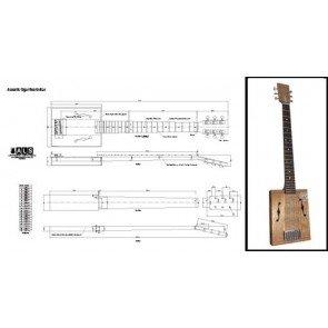 für ein 6-string Saiten -, volle Größe, Cigar Box Gitarre Print