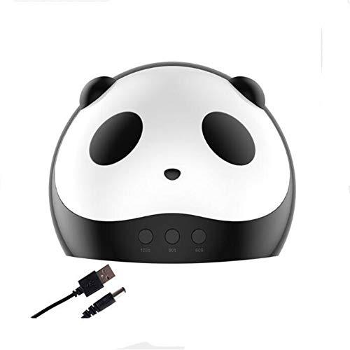 Lámpara LED portátil para uñas - Violetilac 36W Dryer Curing LED GEL Nail Polish Professionalmente - Panda Pattern
