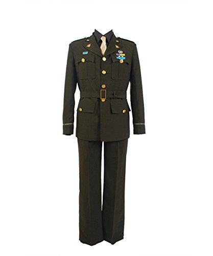 Captain America Steve Rogers WWII Army SSR Uniform Cosplay Kostüm Herren XS