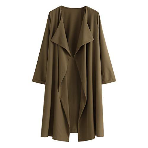 LRWEY Femmes Long Cardigans Couleur Unie Kimono Cardigan Pull en Tricot Manteau Veste Front Ouvert Manches Longues Décontracté Manteau Cardigans Outwear