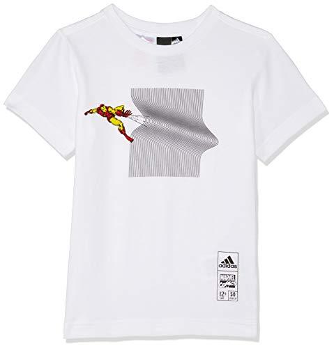 adidas Jungen Iron Man Kurzarm-Shirt, White, 176