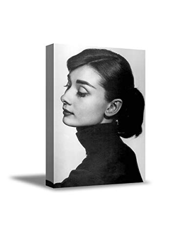 Weihnachtspullover für Frauen Audrey Hepburn, schwarz-weiß, Leinwand-Kunstwerk, Audrey Hepburn, klassisches Malerei, romantisches Geschenk 8