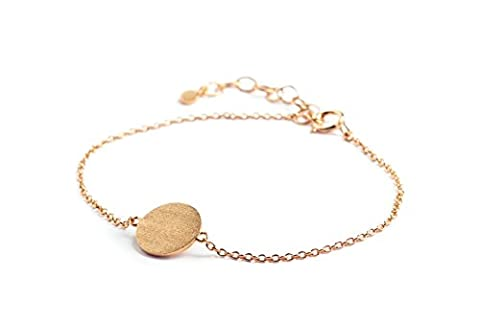 Pernille Corydon Femme Bracelet Coin–Bracelet à Maillons Rond Charm en