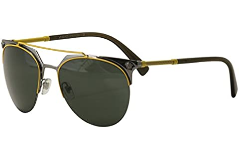 Versace VE2181 Sunglasses 100171 Yellow/Gunmetal 57-18-140