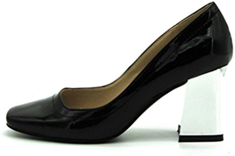 XUEXZIX Shallow Mouth Spell Coloree Thick scarpe con Un Lato Superiore Lucido PU Scarpa con comode Scarpe da Donna... | La prima serie di specifiche complete per i clienti  | Maschio/Ragazze Scarpa
