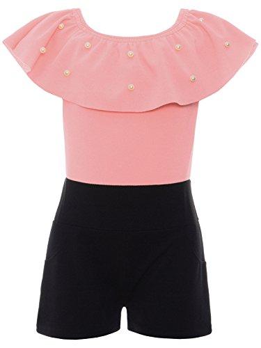 BEZLIT Jumpsuit Mädchen Overall Onesie Schulterfrei Einteiler 22688, Farbe:Rosa, Größe:164