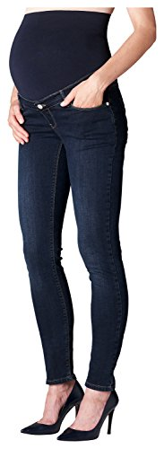 ESPRIT Maternity Damen Umstandsjeans Pants Denim OTB Slim M8C122, Blau (Blue (Darkwash 910), W28/L32 (Herstellergröße: 36/32)