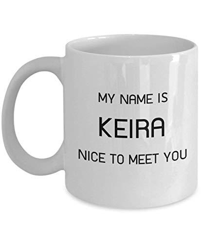 Einzigartiges Geschenk für weiße Kaffeetasse Keira 11oz - Personenname 16 Oz Sip-top