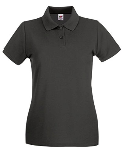 Lady-Fit Premium Poloshirt Fruit of the Loom neue Farben 2017 Light Graphite