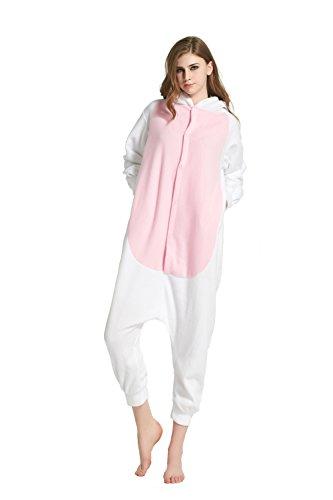 URVIP Erwachsene Unisex Jumpsuit Tier Cartoon Fasching Halloween Pyjama Kostüm Onesie Fleece-Overall Schlafanzug Ziege Medium (Hund Ziege Spielzeug)
