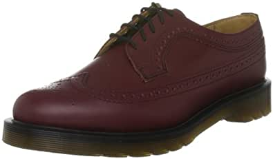Dr. Martens 3989 Brogue, Scarpe Basse Unisex Adulto, Rosso (Cherry Red), 36