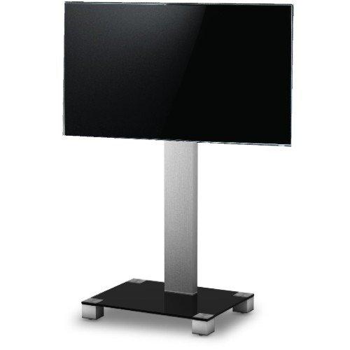 SONOROUS PL-2510 NG - 116 cm großer Standfuß für Fernseher bis 50 Zoll Schwarzglas/graues Gestell
