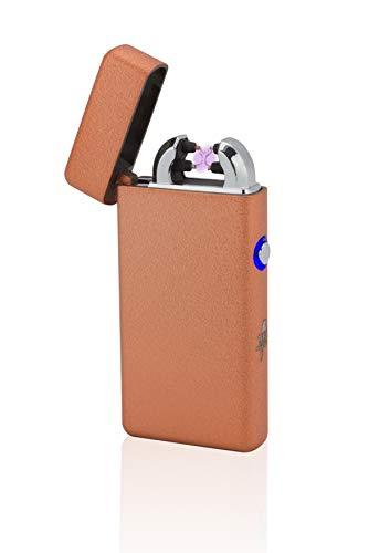 TESLA Lighter T08 Lichtbogen Feuerzeug in Geschenkverpackung, Structured Orange