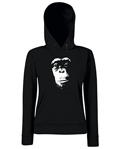 T-Shirtshock - Sweats a capuche Femme FUN0995 chimp1btiljpg tshirt Noir