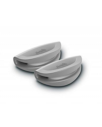 Castey–Cacerola con Tapa Carcasa de Silicona Asas Laterales Set, Aluminio Fundido, Marfil, 30x 30x 30cm